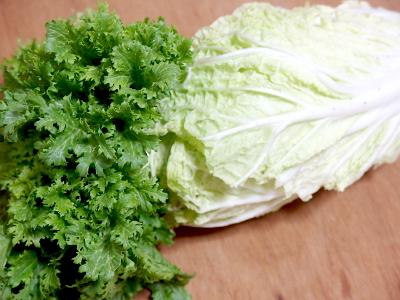 白菜とわさび菜