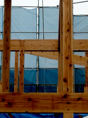 国産材を使った木造3階建住宅の新築工事~建築士事務所民家