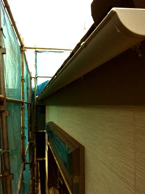 (株)建築士事務所民家 木造三階建て新築工事の雨樋